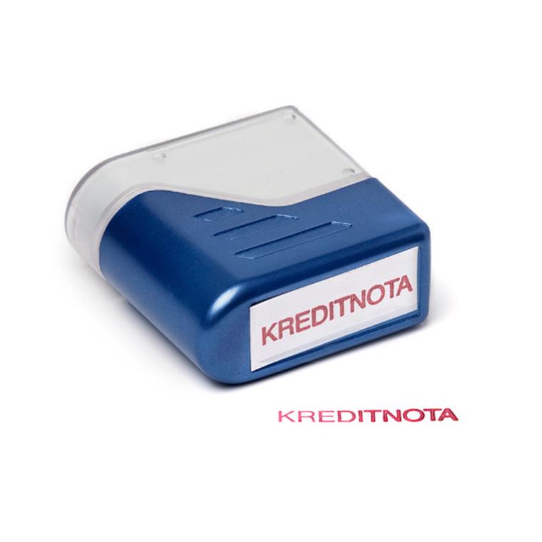 Stempel KREDITNOTA Deskmate - med rød tekst Trodat