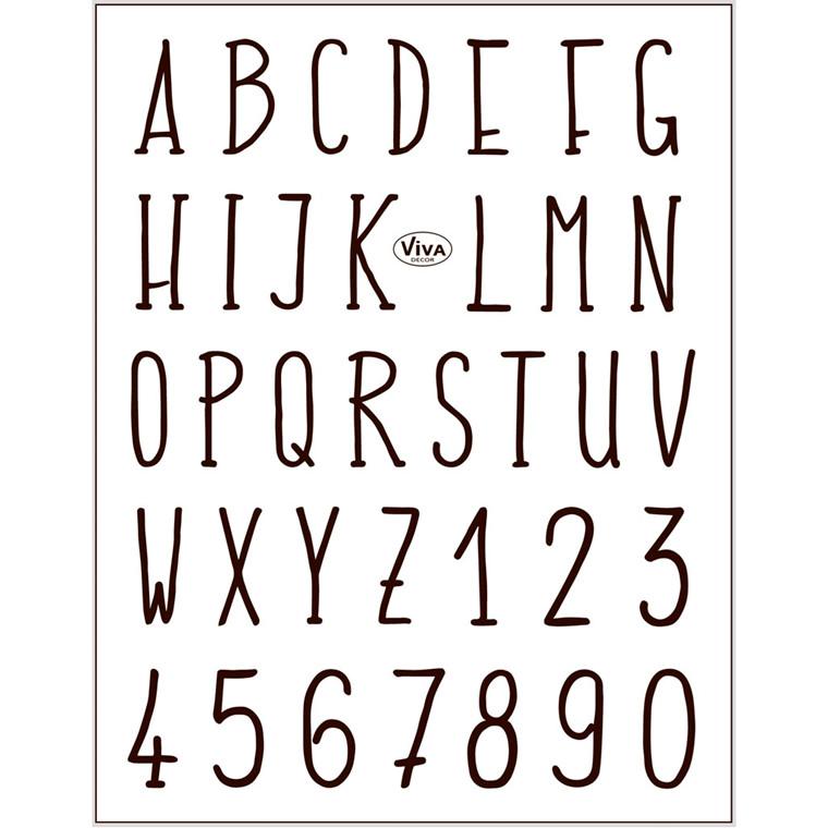 Stempelmotiver ark 14 x 18 cm | alfabet