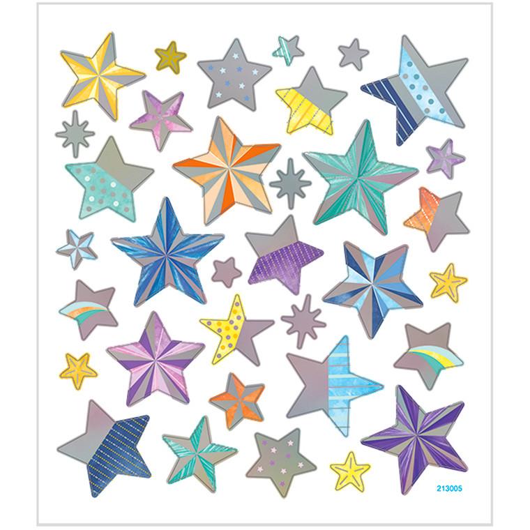 Stickers stjerner med mønstre | 1 ark á 33 stk.