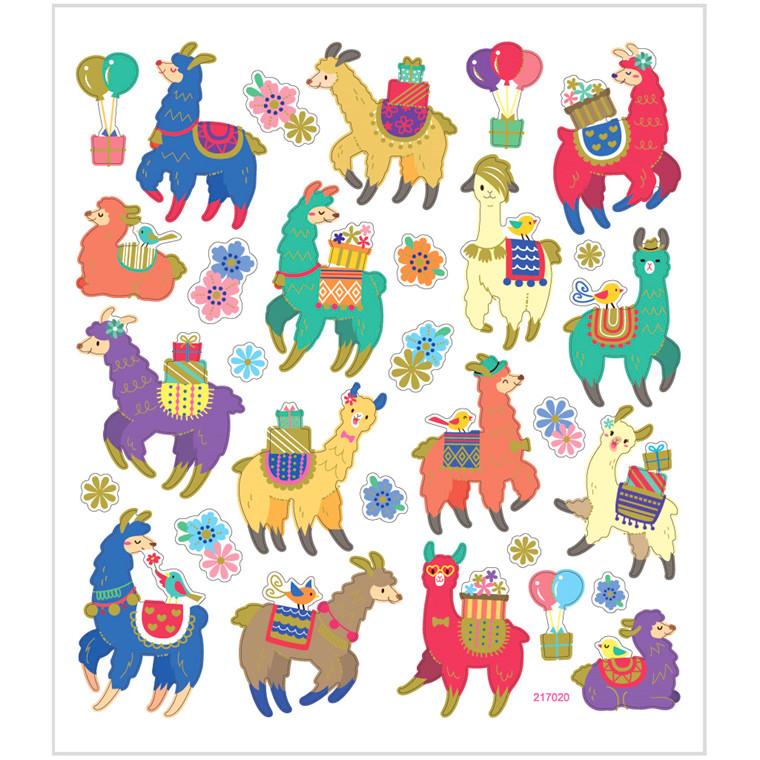 Stickers lamaer i papir med detaljer af metalfolie| 1 ark á 30 stk.