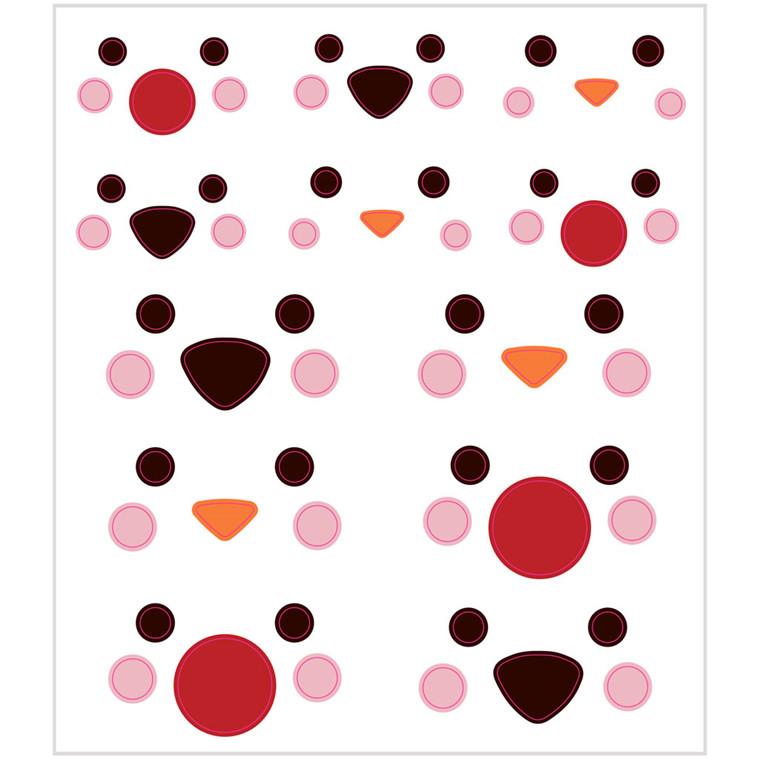 Stickers polardyrsøjne af mat papir | 1 ark á 60 stk.