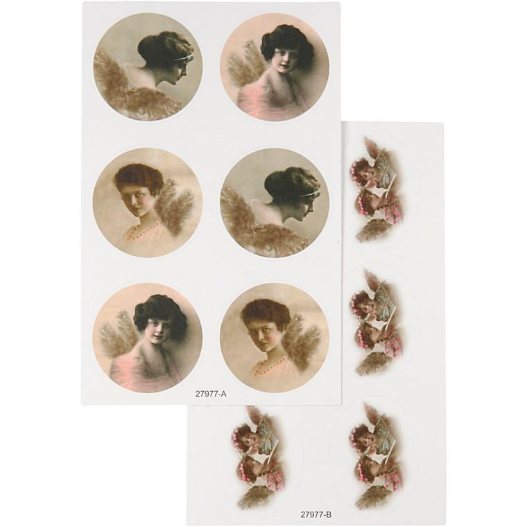 Stickers ark 9 x 14 cm Skagen | 4 ark