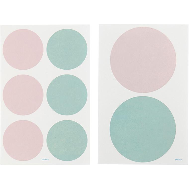 Stickers Vivi Gade Design Paris diameter 4 + 6,5 cm | 4 ark