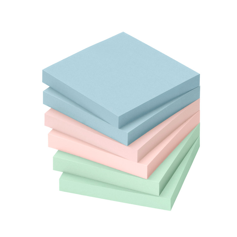Sticky Notes - Info 2 x 3 farver 75 x 75 mm 100 ark - 6 blokke