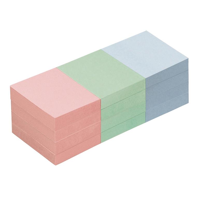 Sticky Notes - Info Farve mix  50 x 40 mm 100 ark - 12 blokke