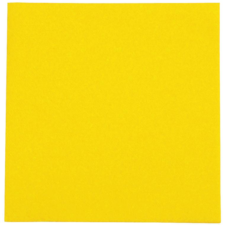 Stikdug, Abena Gastro-Line, 80x80cm, gul, airlaid *Denne vare tages ikke retur*
