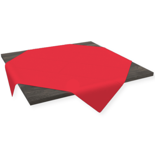Stikdug Dunicel rød 84 x 84 cm - 100 stk.