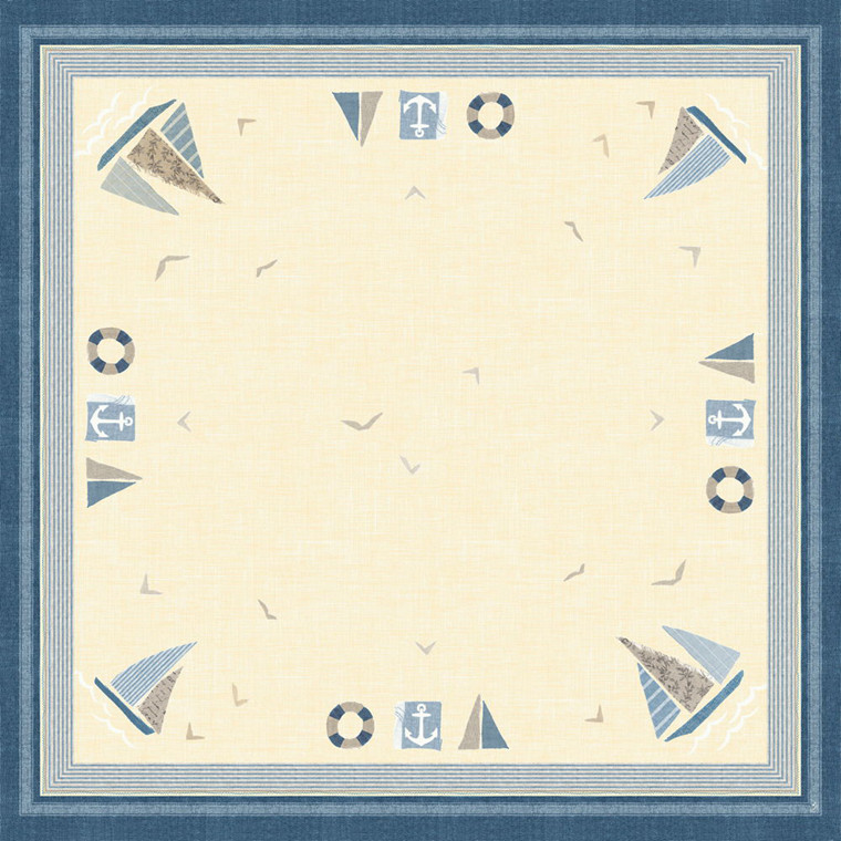Stikdug, Dunicel Seaway, 84x84cm, blå