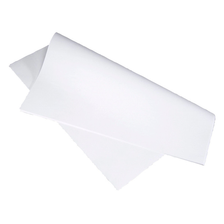 Stikdug glat papir hvid 40 x 80 cm - 90 gram - 500 stk.
