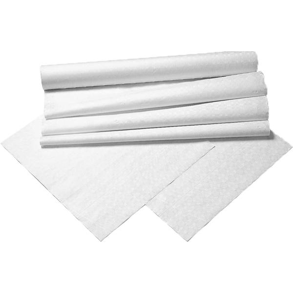 Stikdug lamineret hvid med mønster 90 x 90 cm - 100 stk