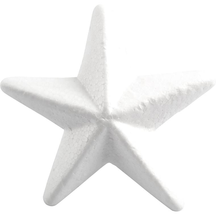 Stjerne 11 cm styropor - 5 stk.