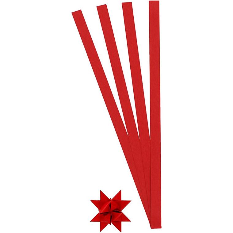 Stjernestrimler rød Bredde 10 mm, diameter 4,5 cm - 100 stk