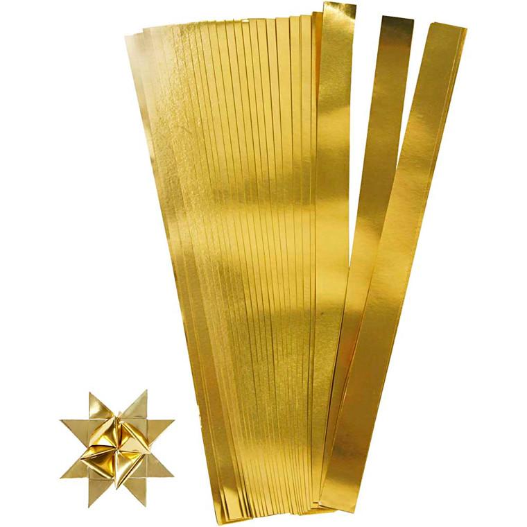 Stjernestrimler guld Bredde 15 mm diameter 6,5 cm Længde 45 cm | 100 stk