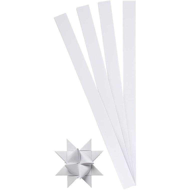 Stjernestrimler hvid Bredde 15 mm, diameter 6,5 cm | 100 stk