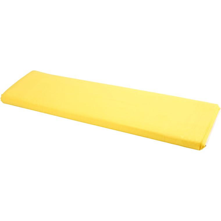 Stof bredde 145 cm 140 g/m2 gul | 10 meter