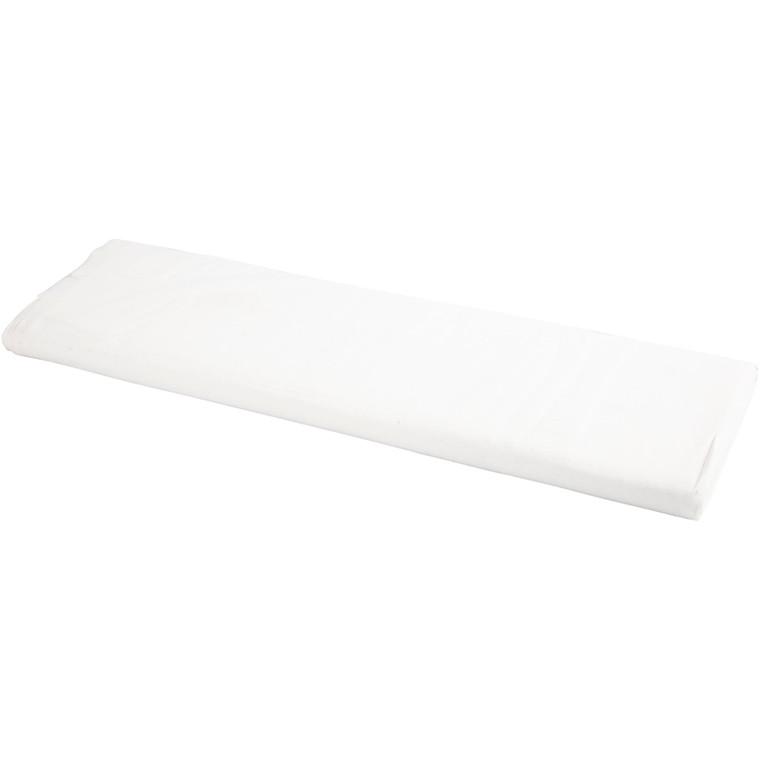 Stof bredde 145 cm 140 g/m2 hvid | 10 meter