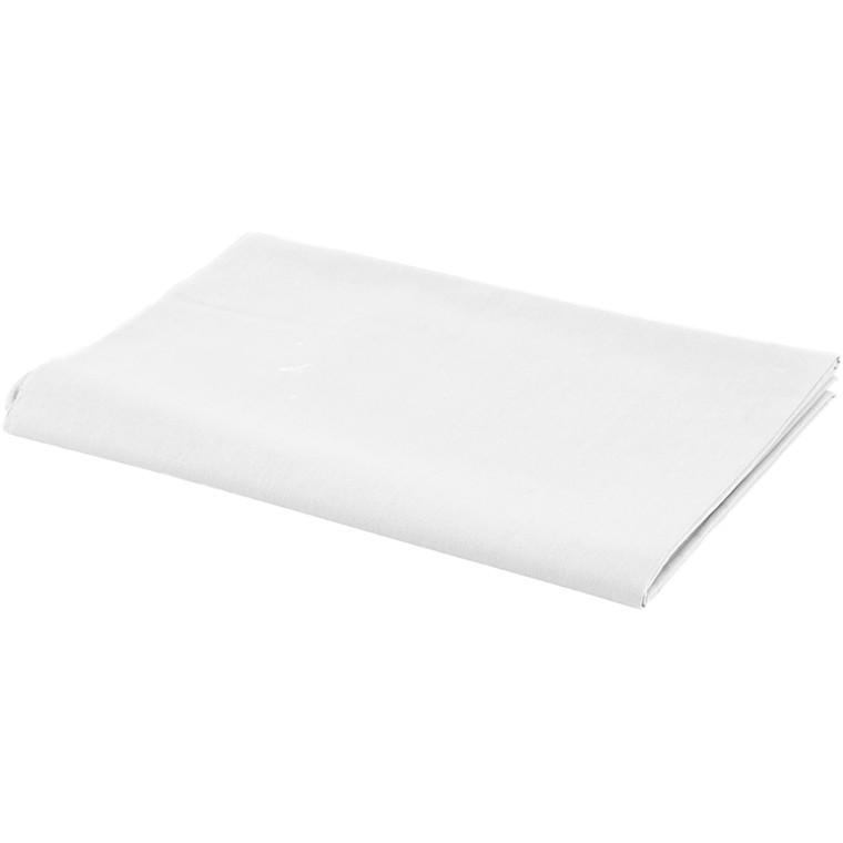Stof bredde 145 cm 140 g/m2 hvid | 1 løbende meter