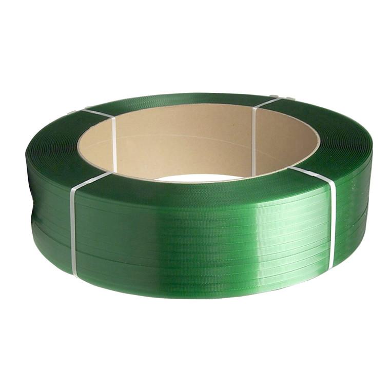 Strapbånd PET grøn 12x0,50mm ø406mm 2500m 230kg træk