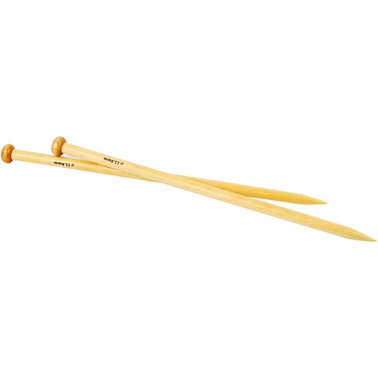 Strikkepinde nummer 12 - Bambus