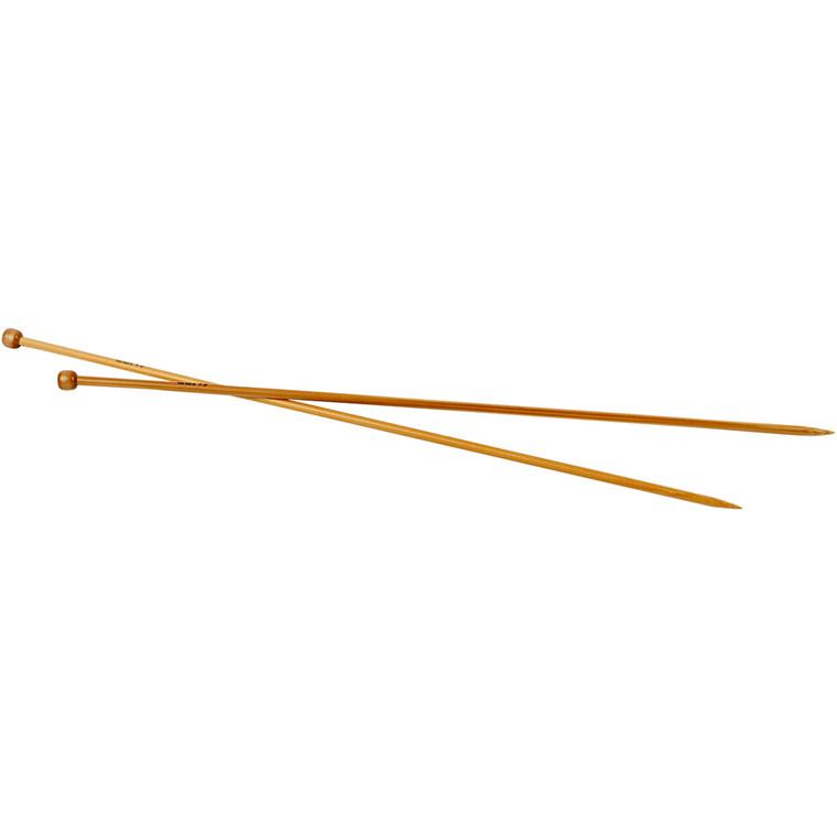 Strikkepinde, nr. 4,5 , L: 35 cm, 1par