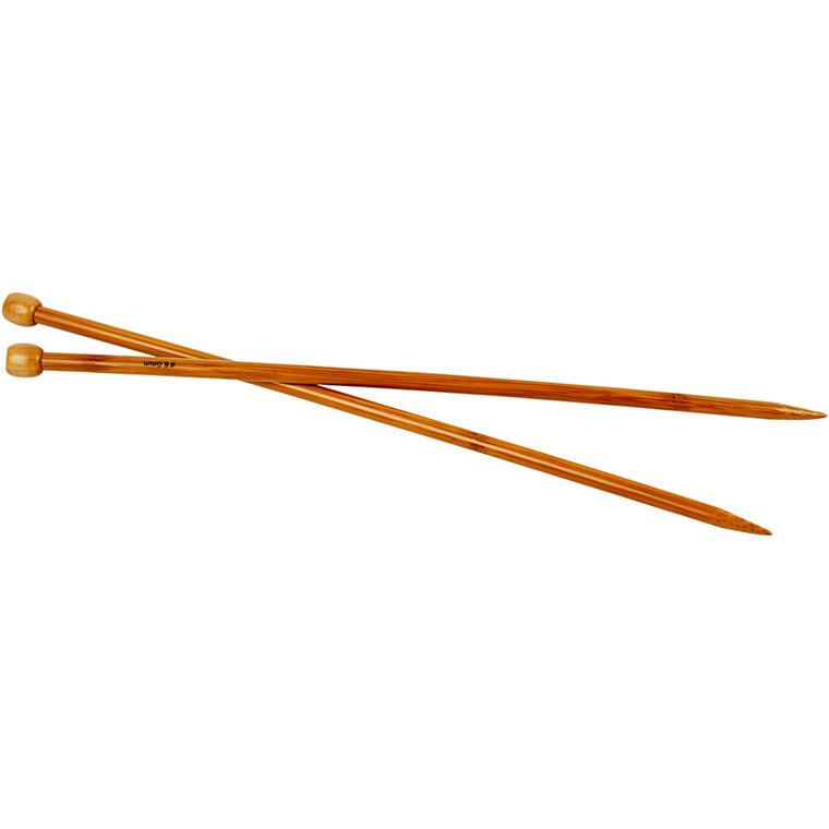 Strikkepinde, nr. 8 , L: 35 cm, 1par