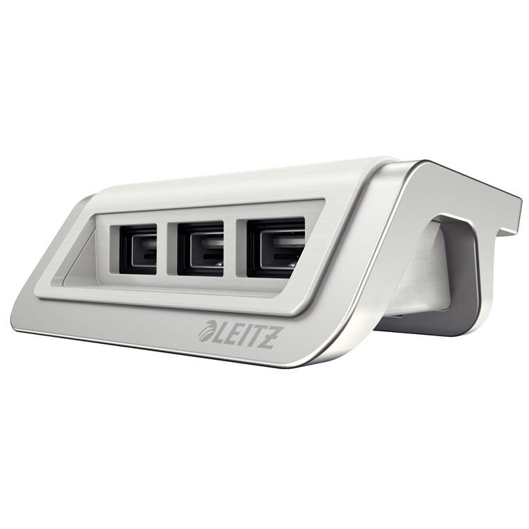 Strømoplader Leitz Style USB arktisk hvid