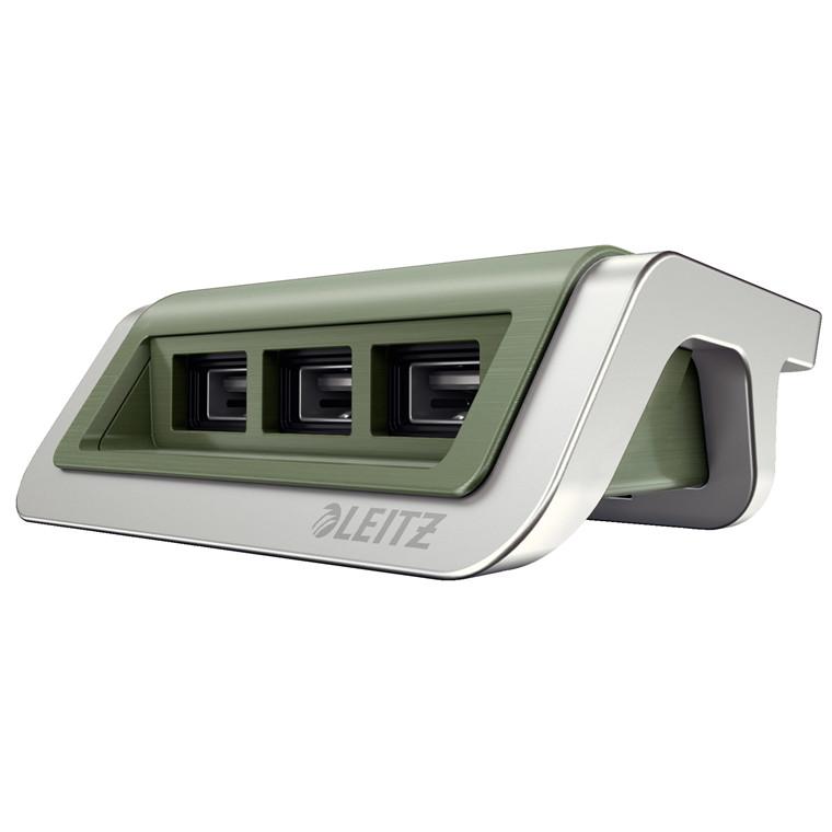 Strømoplader Leitz Style USB celadon grøn