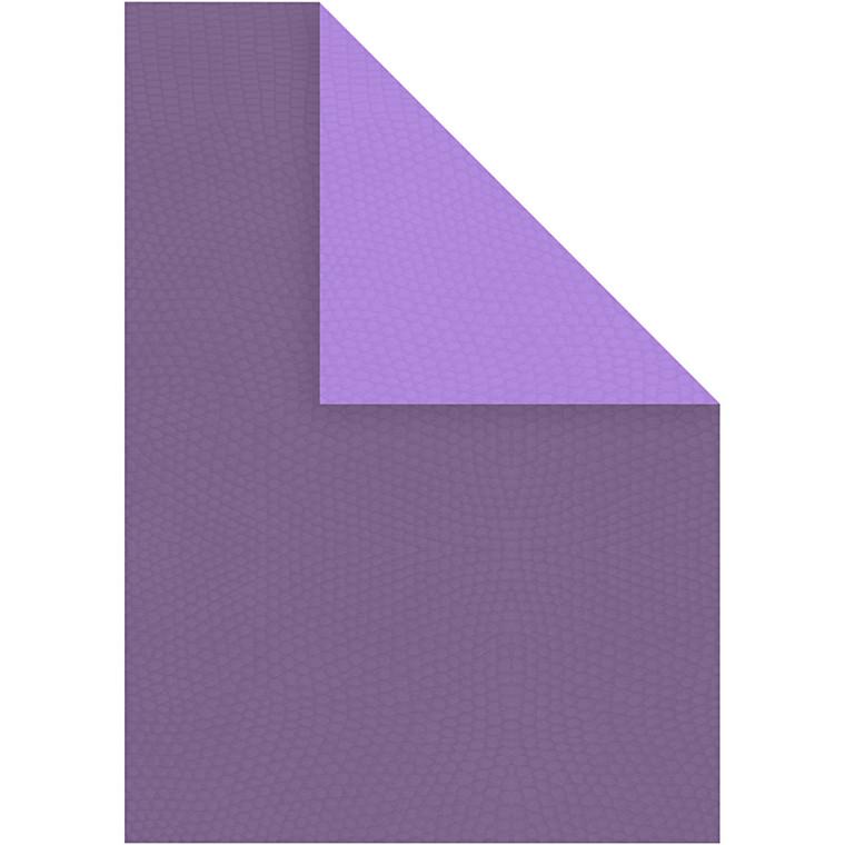 Strukturkarton A4 21 x 30 cm 250 gram lilla/mørk lilla - 10 ark