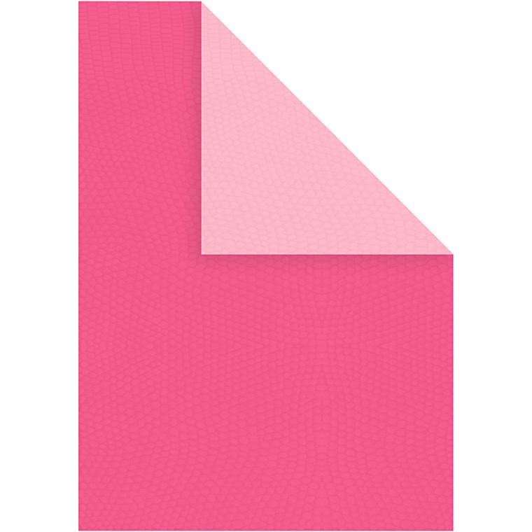 Strukturkarton, A4 21x30 cm, 250 g, pink/rosa, 10ark