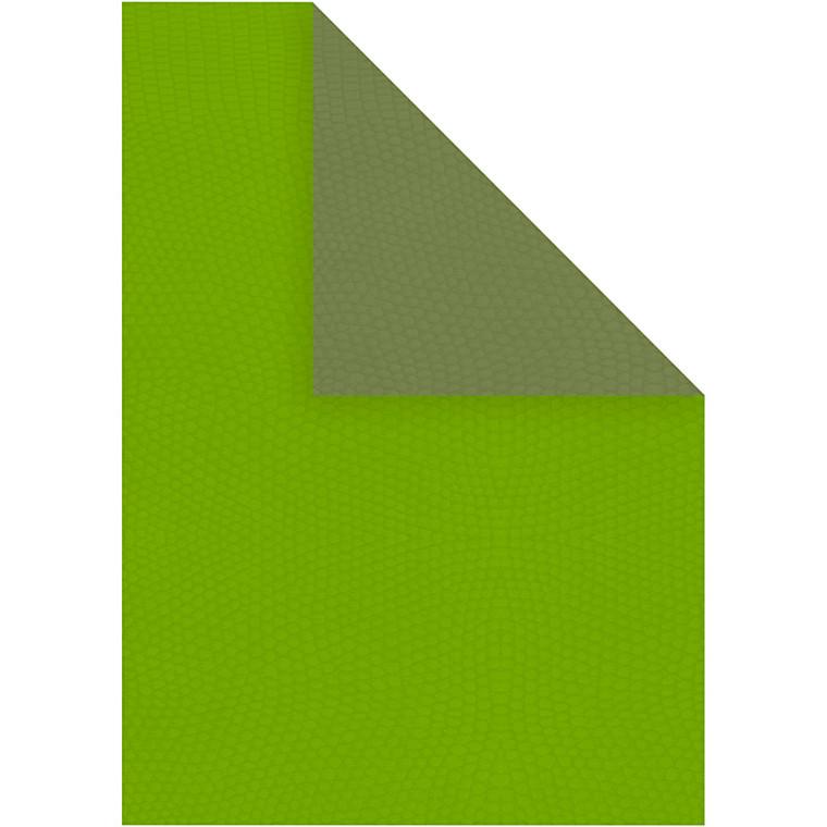 Strukturpapir A4 21 x 30 cm 100 gram mørk grøn/lime - 20 ark
