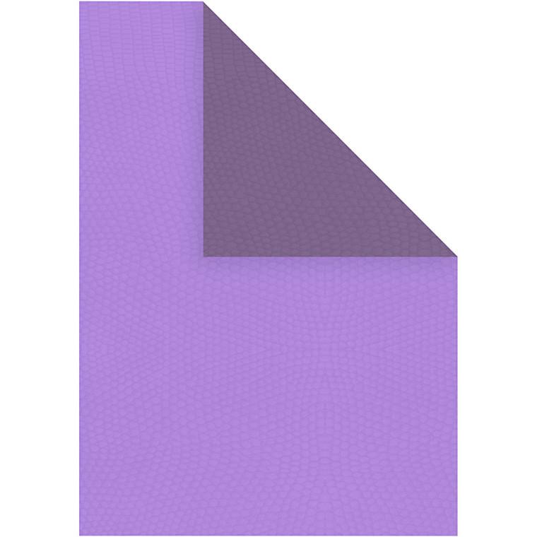Strukturpapir A4 21 x 30 cm 100 gram mørk lilla/lilla - 20 ark