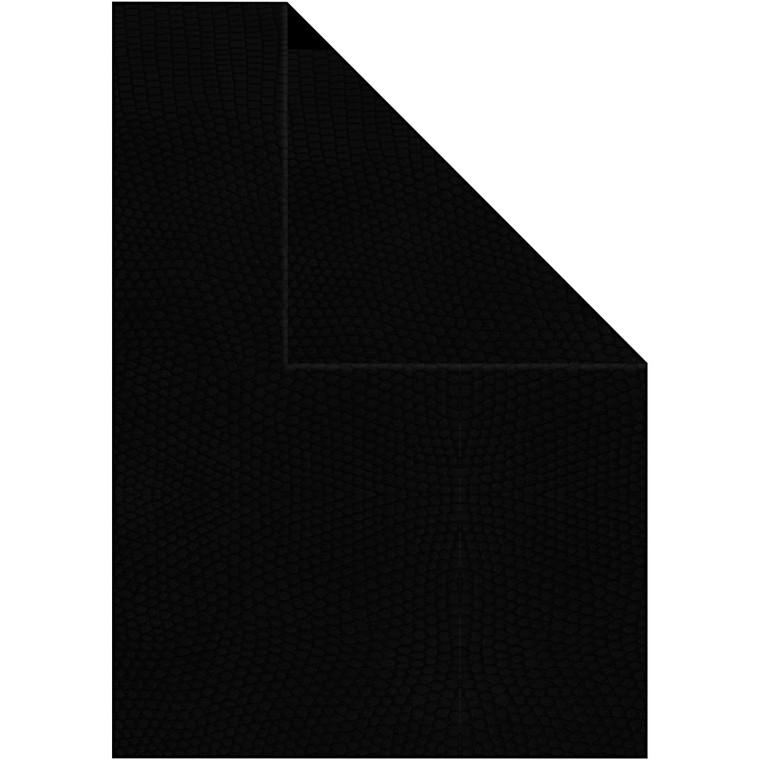 Strukturpapir A4 21 x 30 cm 100 gram sort - 20 ark