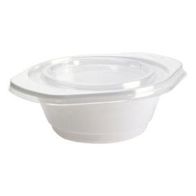 Suppeskål m/hank 275ml PS hvid 100stk/pak