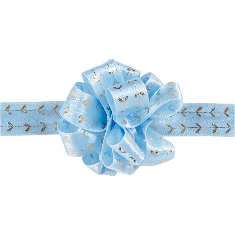 Susifixbånd bredde 18 mm lys blå hjerter | 5 meter
