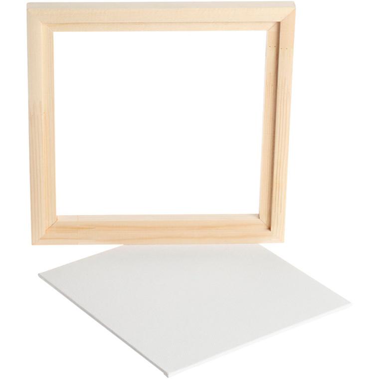 Svæveramme m. malerplade, udv. mål 20,2x20,2 cm, dybde 1,5 cm, Plade 17,4x17,4 cm, 1stk.