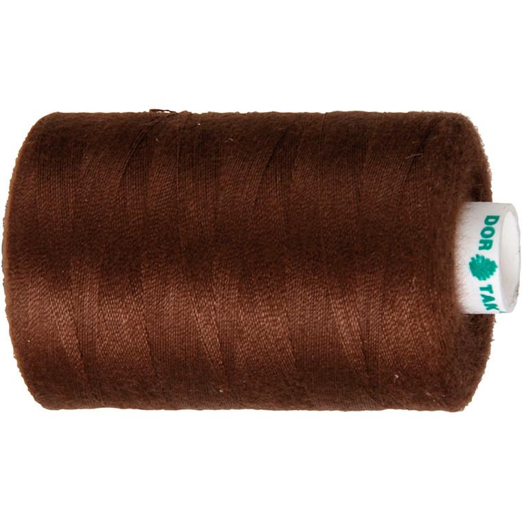 Sytråd, brun, polyester, 1000 m