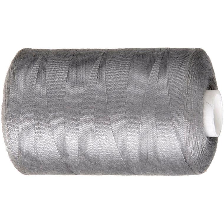 Sytråd, grå, polyester, 1000 m