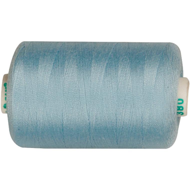Sytråd, lyseblå, polyester, 1000 m