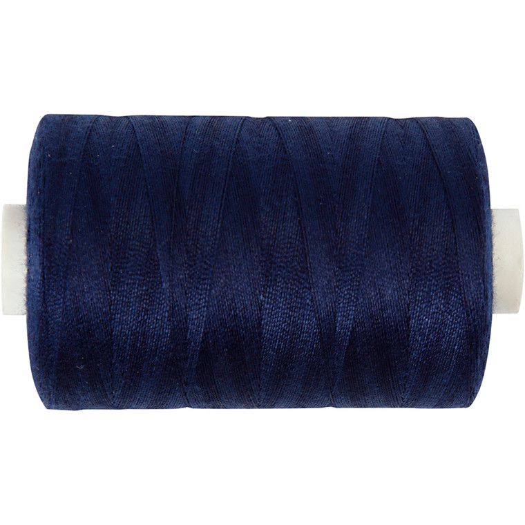 Sytråd, marineblå, polyester, 1000 m