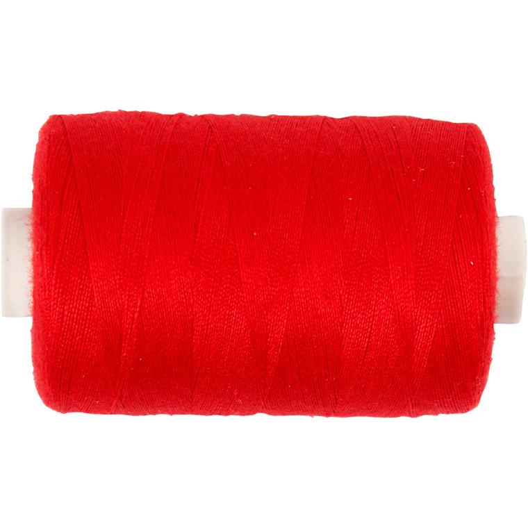 Sytråd, rød, polyester, 1000m