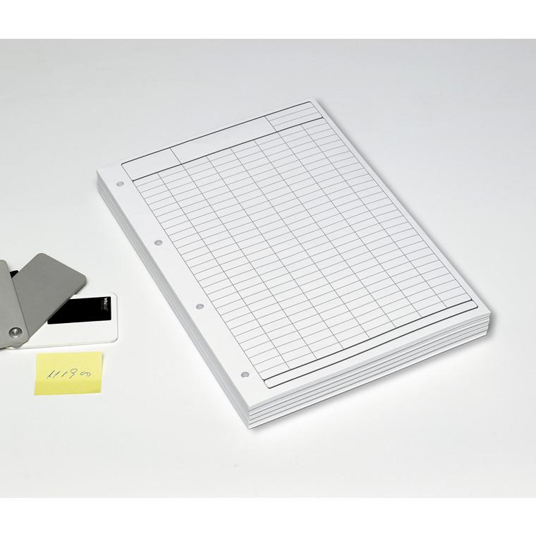 Tabulatorblok - A4  70 gram papir toplimet grå tryk  - 60 sider