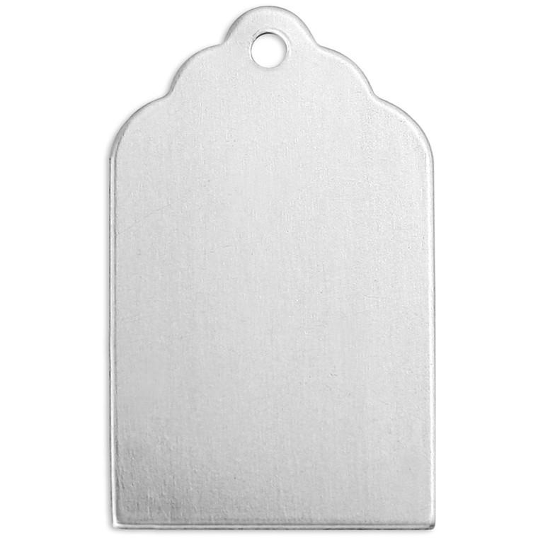 Tag, L: 20 mm, B: 10 mm, aluminium, Firkant, 20stk., hulstr. 1,13 mm