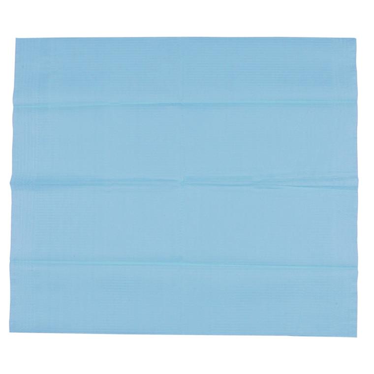 Tandlægeserviet, blå, protect, uden halsudskæring, 3-lags, 42 cm x 48 cm