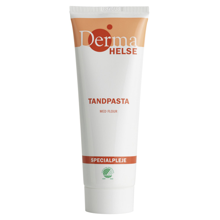 Tandpasta, Derma Helse, med flour, 75 ml,