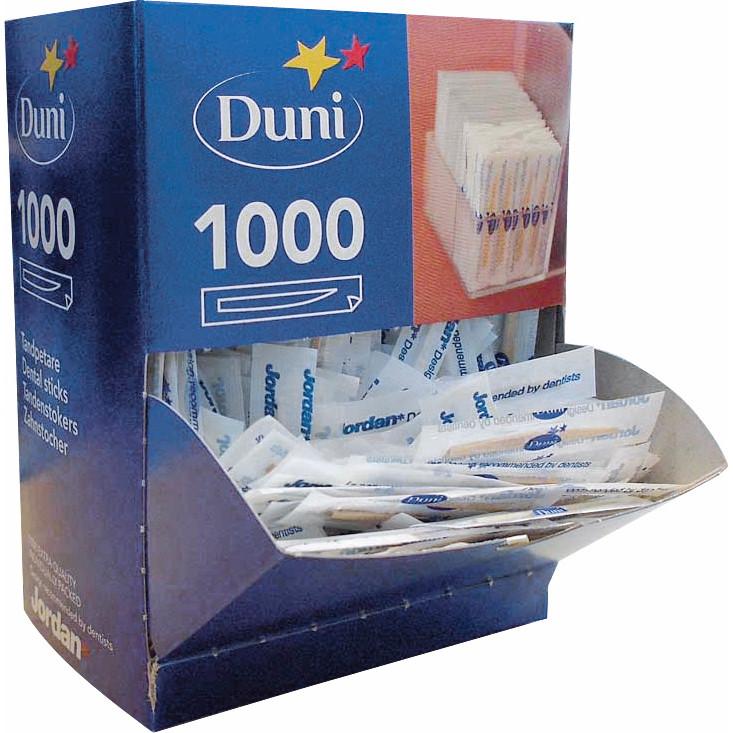 Tandstikkere separat indpakket Jordan træ 1000stk/pak