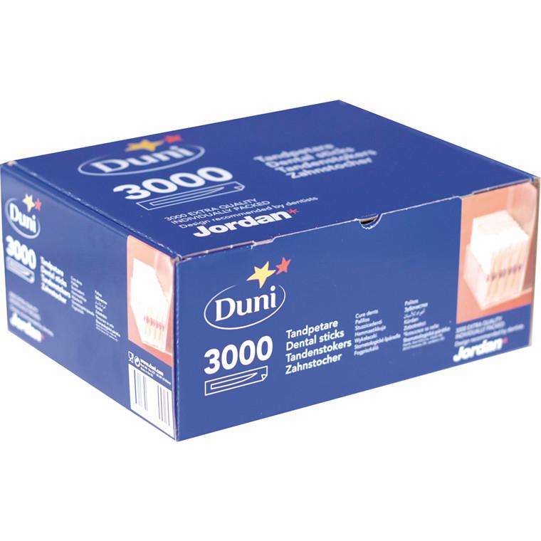 Tandstikkere separat indpakket Jordan træ 3000stk/pak