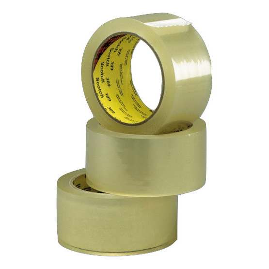 Pakketape klar 3M 309 scotch - 48 mm x 66 m støjsvag