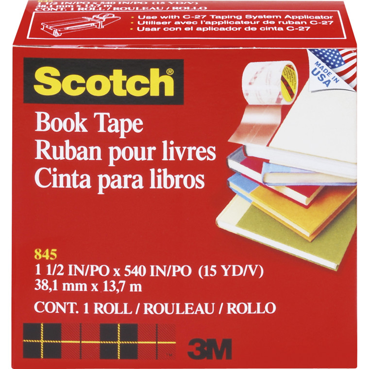 Tape 3M bogtape 845 Klar - 38 mm x 14 m