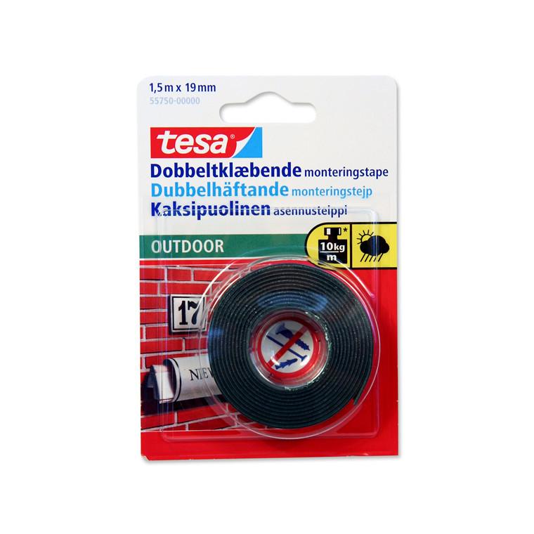 Tape dobbeltklæbende montering outdoor - 19 mm x 1,5 meter