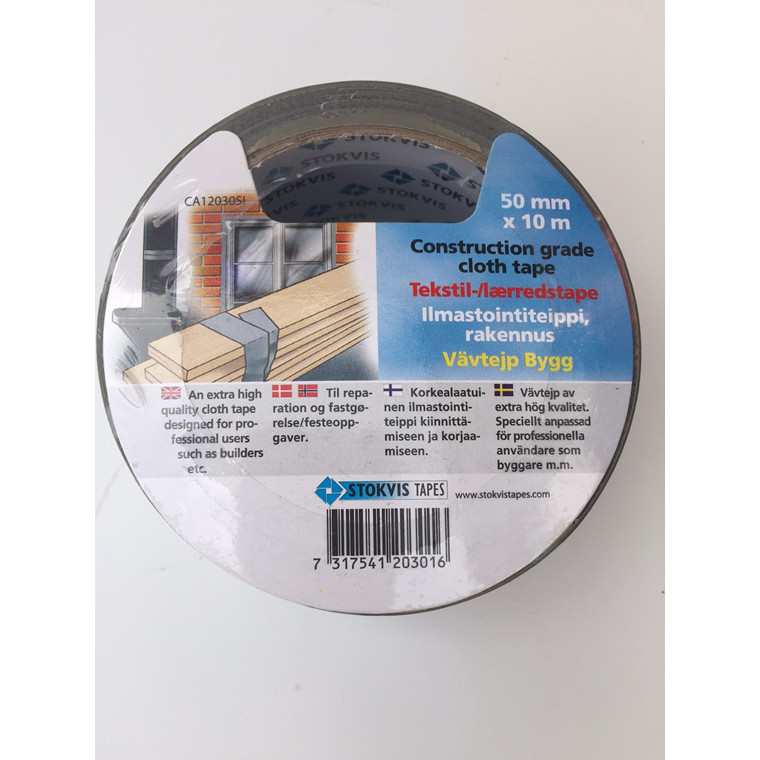 Tape EAN super lærred sort 48mmx10m